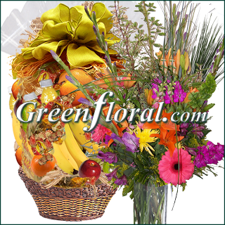 The Fruit Basket and Garden Vase Combo