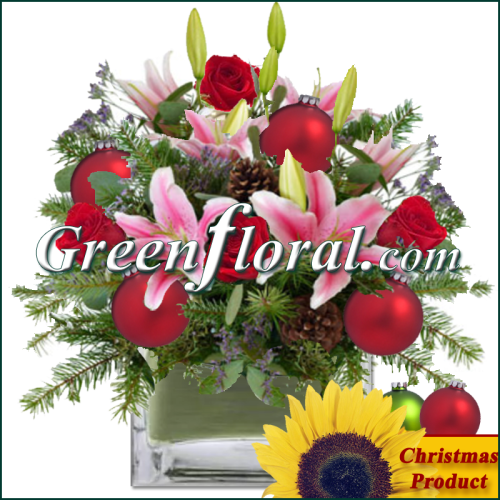The Bethel Springs Holiday Cube Vase