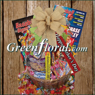 The Father\'s Day Baseball Junk Food Basket