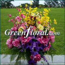 Cemetery Flower Placement