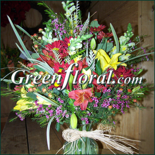 The Archer Hall Fall Design Vase