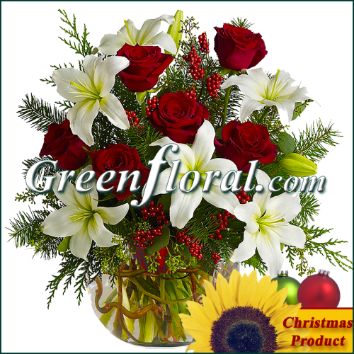 The Meadowoak Christmas Rose Bowl Design
