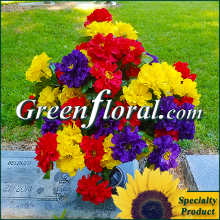Silk Cemetery Arrangement-FFCEM-1000-57