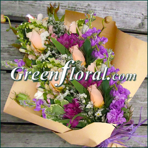 The Green Floral Fresh Flower Presentation Wrap(Visit our Store)