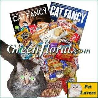 The Cat Lover\'s Junk Food Basket
