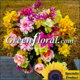 Silk Cemetery Arrangement-FFCEM-1000-52