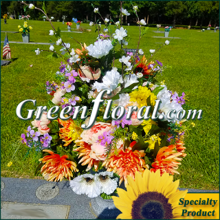 Silk Cemetery Arrangement-FFCEM-1000-58