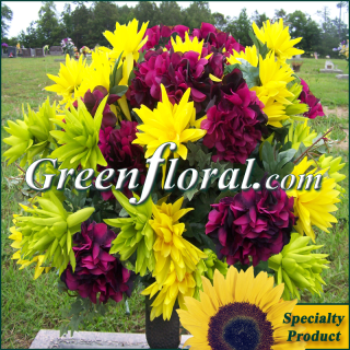 Silk Cemetery Arrangement-FFCEM-1000-14