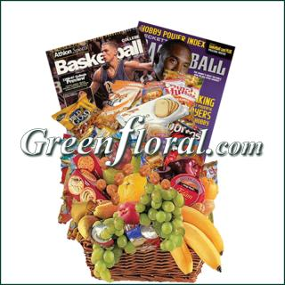 Basketball Fruit & Junk Food Combo Basket
