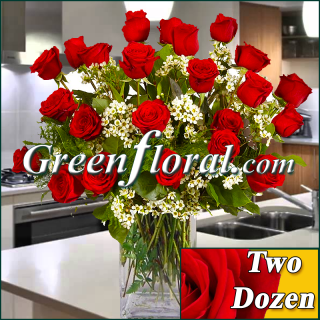 Two Dozen Rose Vase (Available in 4 colors.)