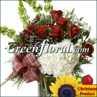 The Deer Ridge Christmas Rose Vase Design