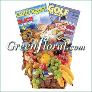 Golf Fruit & Junk Food Combo Basket