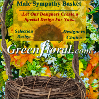 Our Designer\'s Male Sympathy Basket Choice