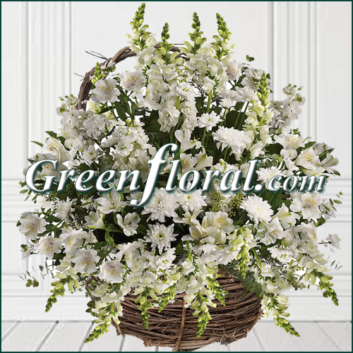The Woodland All White Grapevine Basket