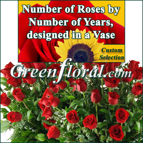 Number of Roses by Number of Years (SELECT YOUR AMOUNT)