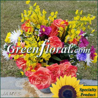 Silk Cemetery Arrangement-FFCEM-1000-42