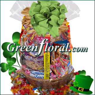 The St. Patrick\'s Day SnackFood Basket