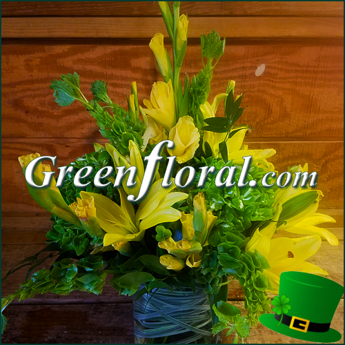 The Woodland St Patricks Day Cube Vase