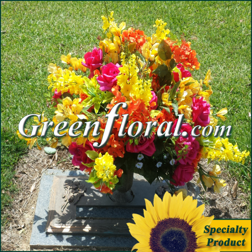 Silk Cemetery Arrangement-FFCEM-1000-06