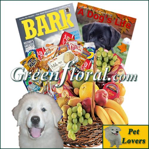 The Dog Lover\'s Fruit & Junk Food Basket Combo