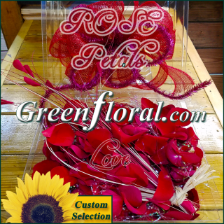 Our XO Romantic Fresh Red Rose Petals (Handpicked)