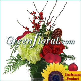 The Bertral Christmas Garden Cube Design