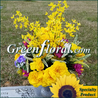 Silk Cemetery Arrangement-FFCEM-1000-43