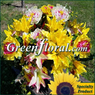 Silk Cemetery Arrangement-FFCEM-1000-35
