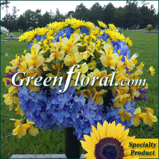 Silk Cemetery Arrangement-FFCEM-1000-07