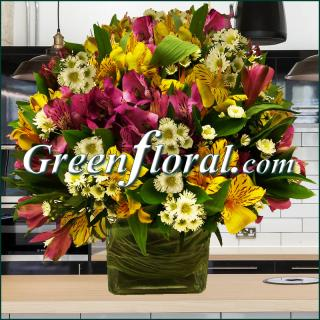 The Alstroemeria Garden Cube Design
