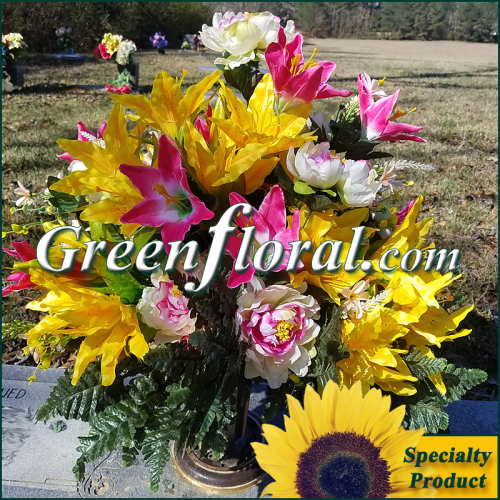 Silk Cemetery Arrangement-FFCEM-1000-33