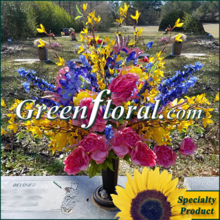Silk Cemetery Arrangement-FFCEM-1000-19