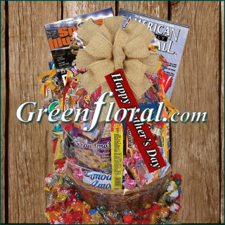 The Father\'s Day Football Junk Food Basket
