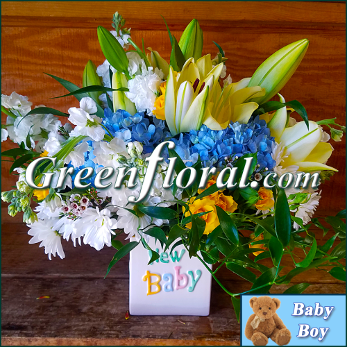 The Clarkton New Baby Boy Cube Vase