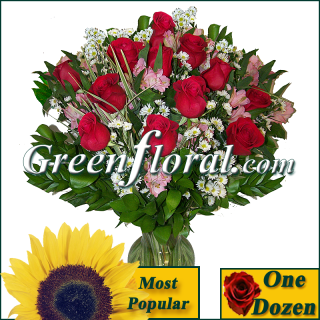 Signature Dozen Premium Rose Vase (Available in 4 colors)