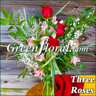 Three Rose Vase (Available in 4 colors.)